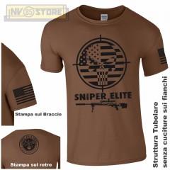 Maglia T-SHIRT GILDAN American Sniper Chris Kyle Teschio Maglietta Uomo STAMPA B