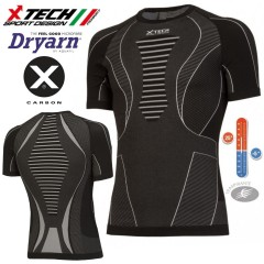 Maglia Tecnica X-TECH SPIDER Made in Italy 100% TRASPIRANTE Outdoor Shirt BK