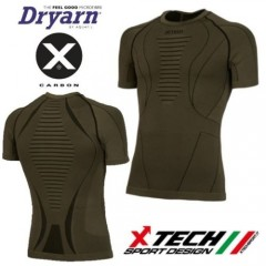 Maglia Tecnica X-TECH SPIDER Made in Italy 100% TRASPIRANTE Outdoor Shirt OD