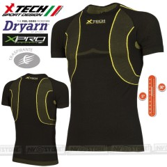 Maglia Tecnica X-TECH X-DRY Made in Italy 100% TRASPIRANTE Outdoor Shirt BK