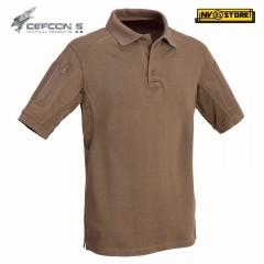 Maglia Polo Tattica DEFCON 5 Manica Corta Combat Shirt Militare Softair CY Tan