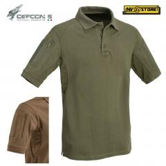 Maglia Polo Tattica DEFCON 5 Manica Corta Combat Shirt Militare Softair OD