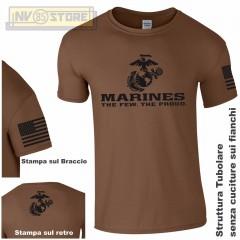 Maglia T-SHIRT GILDAN Militare Marines Marine Corps USMC Maglietta Uomo STAMPA B