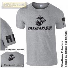 Maglia T-SHIRT GILDAN Militare Marines Marine Corps USMC Maglietta Uomo STAMPA G