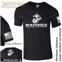 Maglia T-SHIRT GILDAN Militare Marines Marine Corps USMC Maglietta Uomo STAMPA N