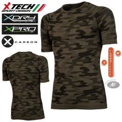 Maglia Tecnica X-TECH X-Mimetic Made in Italy 100% TRASPIRANTE Outdoor Shirt
