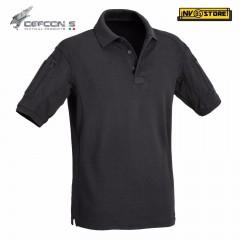 Maglia Polo Tattica DEFCON 5 Manica Corta Combat Shirt Militare Softair Nero BK