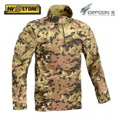 Maglia Tattica DEFCON 5 Vegetato Manica Lunga Combat Shirt Militare Softair VI