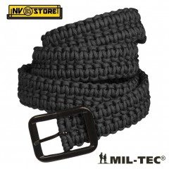 CINTURA MILTEC IN PARACORD 33 Metri TACTICAL BELT SOFTAIR SURVIVOR CAMPING NERO