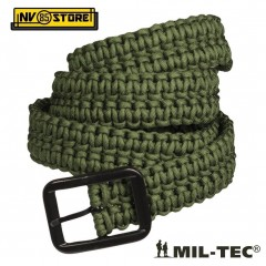 INTURA MILTEC IN PARACORD 33 Metri TACTICAL BELT SOFTAIR SURVIVOR CAMPING VERDE
