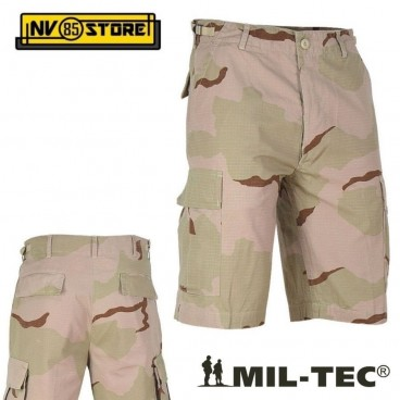 BERMUDA PANTALONI MILTEC BDU RIPSTOP SHORTS CARGO TASCONI SOFTAIR SURVIVOR DS2