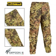 Pantaloni DEFCON 5 BDU Tactical Pants Vegetato Combat RIP-STOP Militare Softair