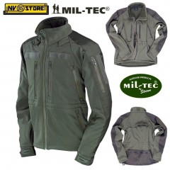 Giubbotto Softshell MILTEC Giubbino Tattico Softair IMPERMEABILE Multitasche OD