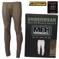 Pantalone Intimo Termico MFH Underwear Level I 1° GEN III Caccia Militare OD