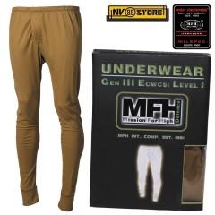 Pantalone Intimo Termico MFH Underwear Level I 1° GEN III Caccia Militare CY
