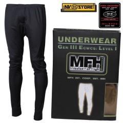 Pantalone Intimo Termico MFH Underwear Level I 1° GEN III Caccia Militare Black