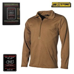 Maglia Termica MFH Underwear Level 2 GEN III Intimo Termico Caccia Militare TAN