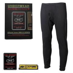 Pants MFH Underwear Level 2 GEN III Pantaloni Intimo Termico Caccia Militare BK