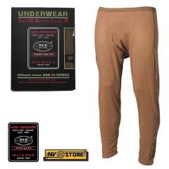 Pants MFH Underwear Level 2 GEN III Pantaloni Intimo Termico Caccia Militare TAN