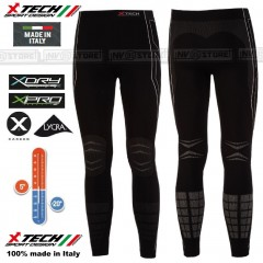 Pantalone Intimo Termico X-TECH RACE3 BK -20° Made in Italy 100% Termic Pants