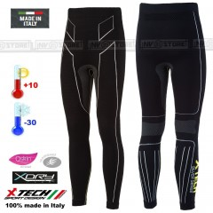Pantalone Intimo Termico X-TECH PREMIUM BK -30° Made in Italy 100% Termic Pants