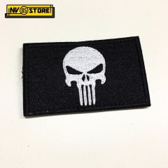 Patch Ricamata Skull Sniper Punisher Navy Seals 8 x 5 cm Militare BK con Velcrog