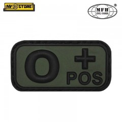 Patch in PVC 0+ MFH Verde 5 x 2,5cm Militare Softair Soccorso con Velcrogrip