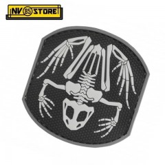 Patch in PVC Frog Skull NAVY SEALS 7 x 7,5 cm BK Militare Softair con Velcrogrip