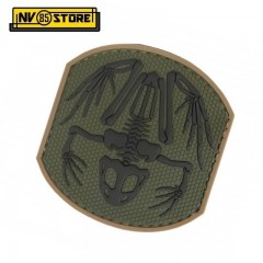 Patch in PVC Frog Skull NAVY SEALS 7 x 7,5 cm OD Militare Softair con Velcrogrip