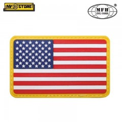 Patch in PVC Bandiera USA MFH 8 x 5 cm Militare Softair con Velcrogrip