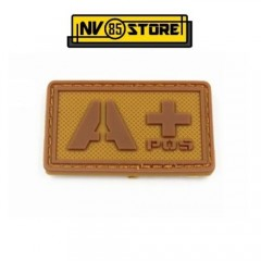Patch in PVC A+ Tan 5cm x 3cm Coyote Militare Softair Soccorso con Velcrogrip