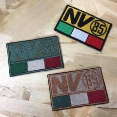 Patch Ricamata Bandiera Italiana NV85 ITALIA 8 x 5 cm Softair Militare con Velcr