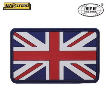 Patch PVC Bandiera UK Regno Unito England MFH 8x5cm Militare Softair con Velcrog
