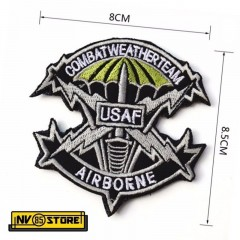 Patch Ricamata USAF Air Force USA America 8 x 8,5 Militare Softair con Velcrogr